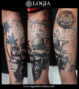 Tatuajes-brazo-motorista-Logia-Barcelona-Alex