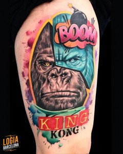 tattoo_brazo_pop_art_gorila_bruno_don_lopes_logia_barcelona
