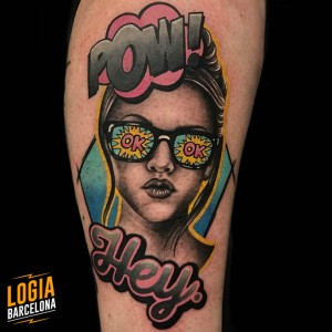 tattoo_pierna_pop_art_chica_gafas_sol_lolita_bruno_don_lopes_logia_barcelona