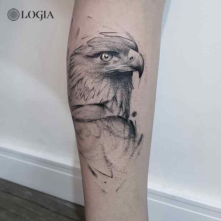 tatuaje aguila sketch logia barcelona dani bastos