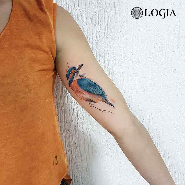 tatuaje de pajaro sketch logia barcelona