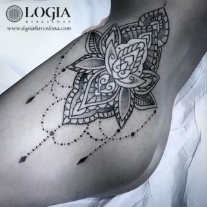Tatuaje Mandala Muslo Mujer Sfb