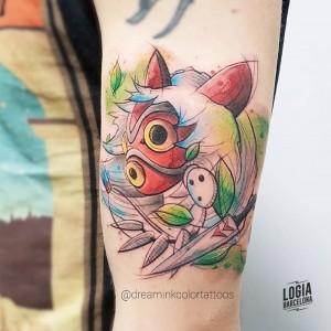 tatuaje_mononoke_brazo_dreamink_logia_barcelona