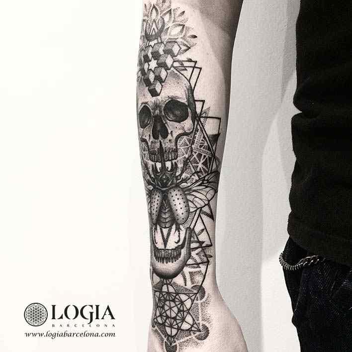 tatuaje-brazo-calavera-metatron2-logiabarcelona-franki
