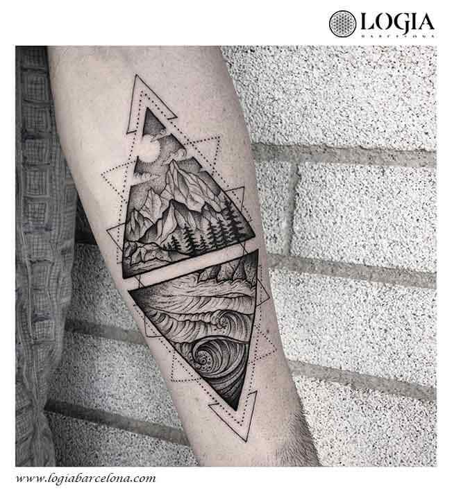tatuaje-brazo-mar-montaña-logiabarcelona-franki-1
