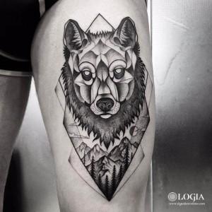 tatuaje-muslo-lobo-logiabarcelona-franki