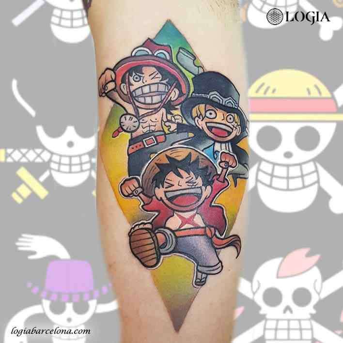 tatuaje one piece luffy usopp
