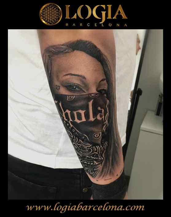 tatuaje chicano chola logia barcelona