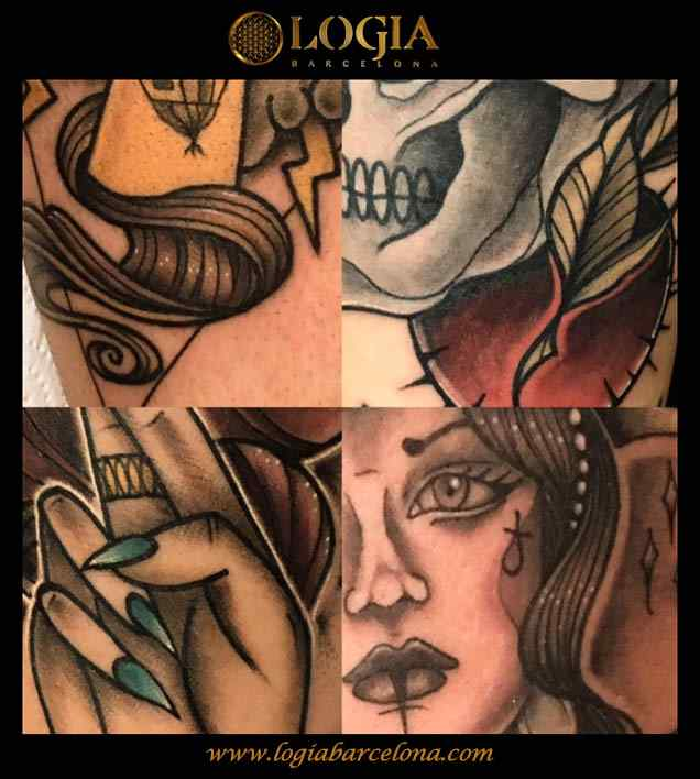 tatuaje-collage-color-logia-barcelona-illy