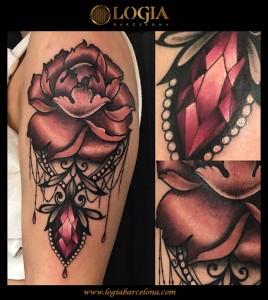 tatuaje-rosa-joyeria-color-logia-barcelona-illy