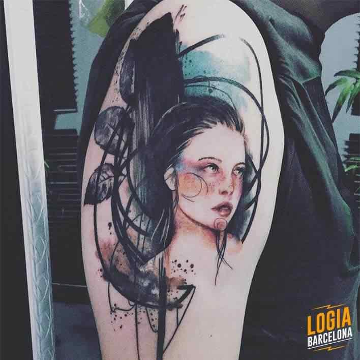 tatuaje sketch Jessica Damasceno Logia Barcelona
