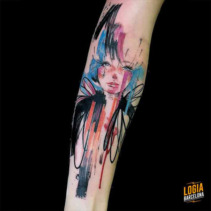 sketch tattoo acuarela Logia Barcelona