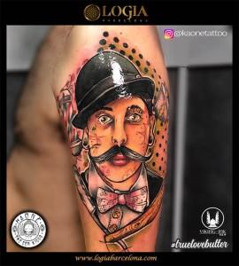 tatuaje-Hombro-retrato-logia-barcelona-kaone