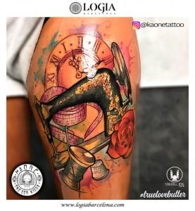 tatuaje-pierna-coser-logia-barcelona-kaone