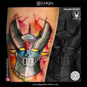 tatuaje-pierna-mazinger-logia-barcelona-kaone