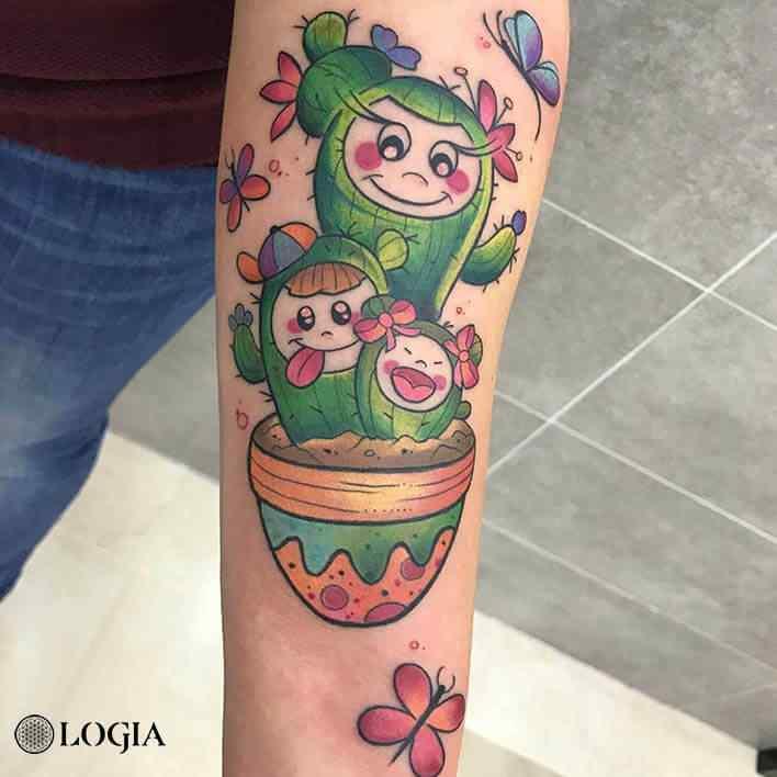 tatuaje-brazo-cactus-watercolor-logia-barcelona-kathycaboom