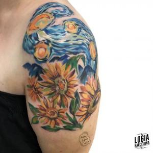tatuaje_girasoles_impresionismo_brazo_logiabarcelona_kathycaboom