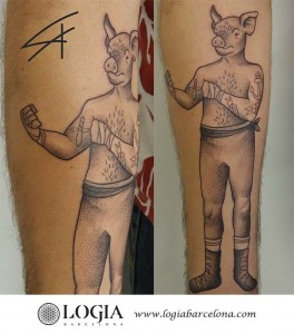 tatuaje-brazo-cerdo-logiabarcelona-luana-xavier