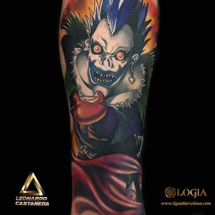 Tatuajes Anime trabajos - leonardo - castaneda - logia tattoo
