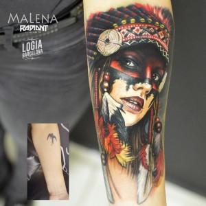 tatuaje_brazo_india_cover_malena_logia_barcelona
