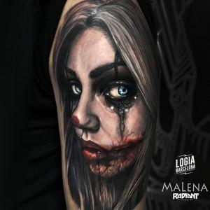 tatuaje_hombro_harley_quinn_malena_logia_barcelona