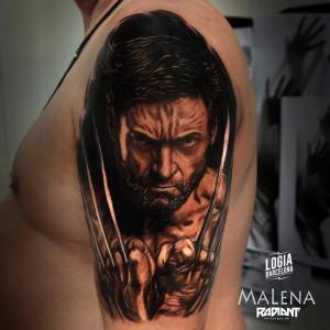 tatuaje_hombro_lobezno_malena_logia_barcelona