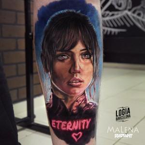 tatuaje_pierna_eternity_malena_logia_barcelona
