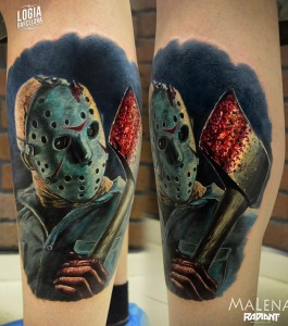 tatuaje_pierna_jason_terror_malena_logia_barcelona