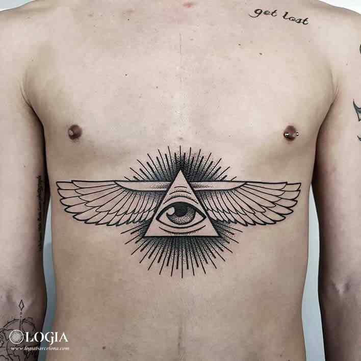 Tatuaje Milano Egipcio Alas Ojo Illuminati Logia Barcelona