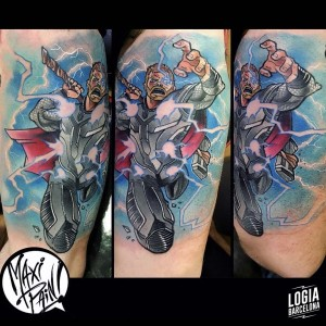 tatuaje_color_thor_pierna_logiabarcelona_maxi_pain
