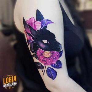 tatuaje_brazo_ciervo_2_nastia_logia_barcelona