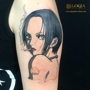 tatuaje-retrato-manga-brazo-logia-barcelona-Negative