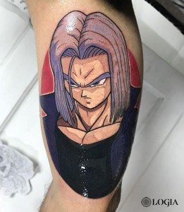 tatuaje-trunks-dragonball-logia-barcelona-negative