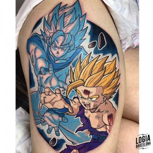 tatuaje_pierna_songoku_songohan_dragonball_logiabarcelona_negative