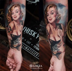 tattoo_marilyn_brazo_logia-barcelona_nikolay