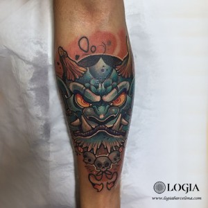 tatuaje-brazo-oni-logia-barcelona-nimu