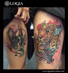 tatuaje-pierna-perro-tigre-logia-barcelona-nimu