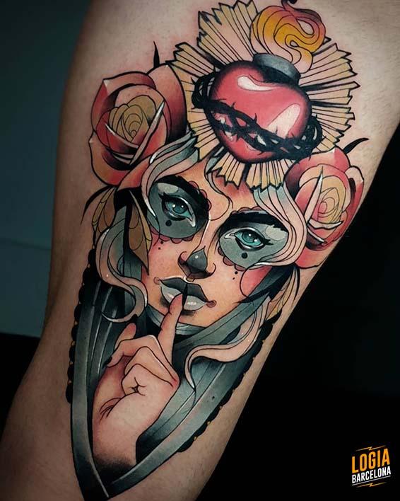 tatuajes de la santa muerte catrina