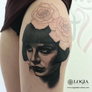 tatuaje-inprogress-retrato-pierna-Logia-Barcelona-Munilla