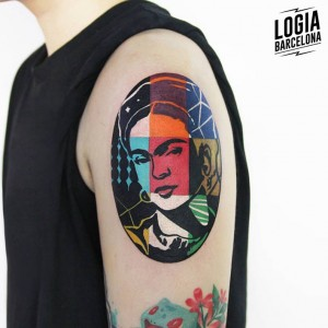 tatuaje_brazo_frida_kahlo_color_logia_barcelona_polyc
