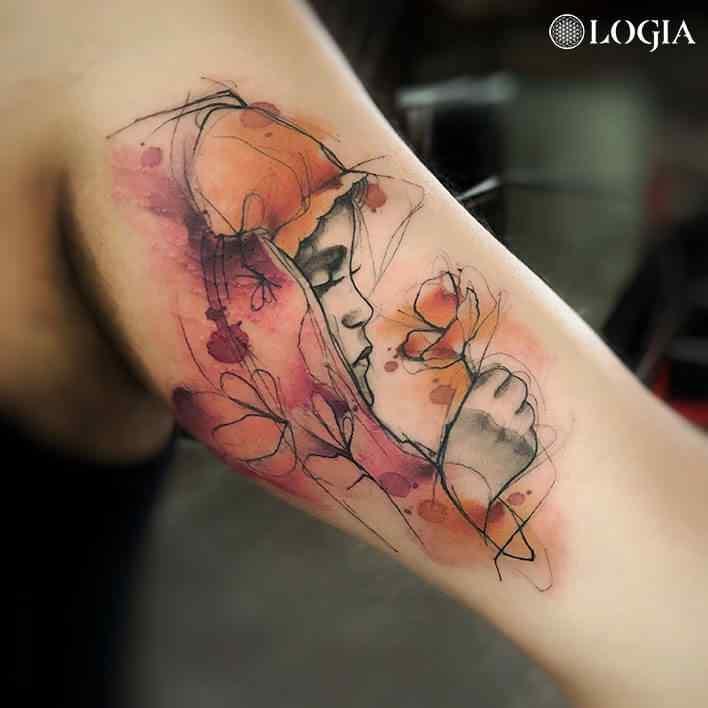 tatuaje elegante niña renata henriques logia barcelona