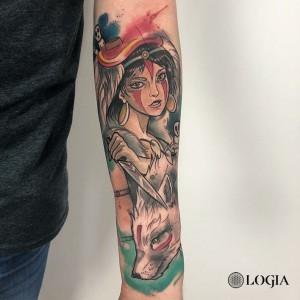Tatuaje en el brazo manga Mononoke