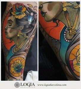 tatuaje-brazo-modernista-logia-barcelona-sauco