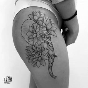 tatuaje_elefante_Logia_Barcelona_Blackwork_Sulsu