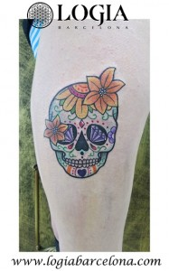 wallk-in tattoo calavera