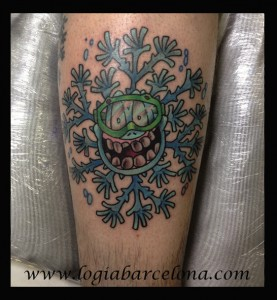 wallk-in tattoo copo de nieve