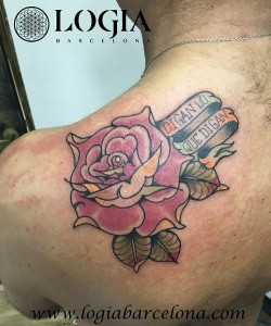 wallk-in tattoo rosa