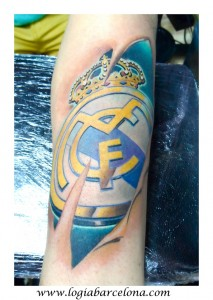 wallk-in tattoo escudo Real Madrid