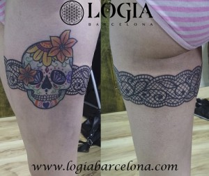 wallk-in tattoo liga de calavera