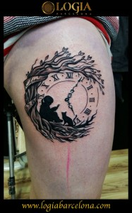 wallk-in tattoo reloj